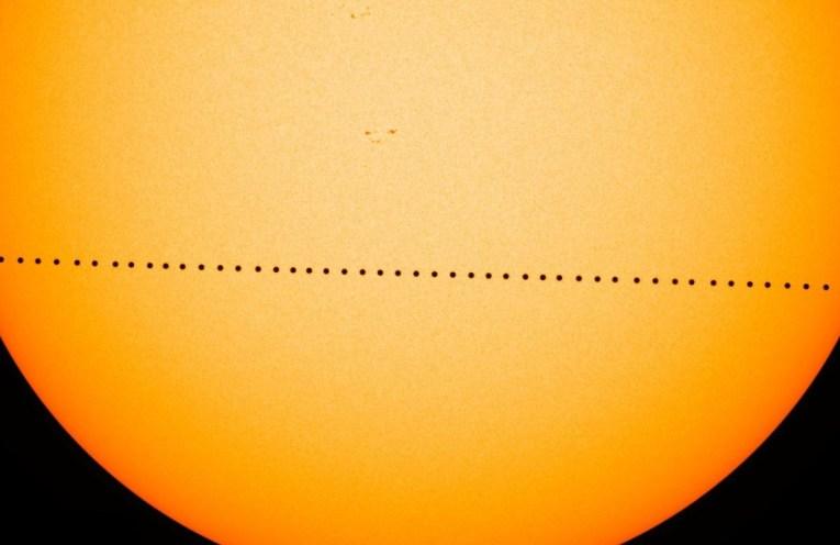 Mars through the Sun in 2016