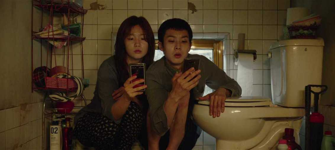 Woo-sik Choi and So-dam Park in Parasite, 2019