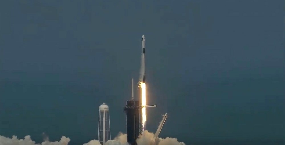 SpaceX successfully launched two NASA Astronauts to the Earth's orbit