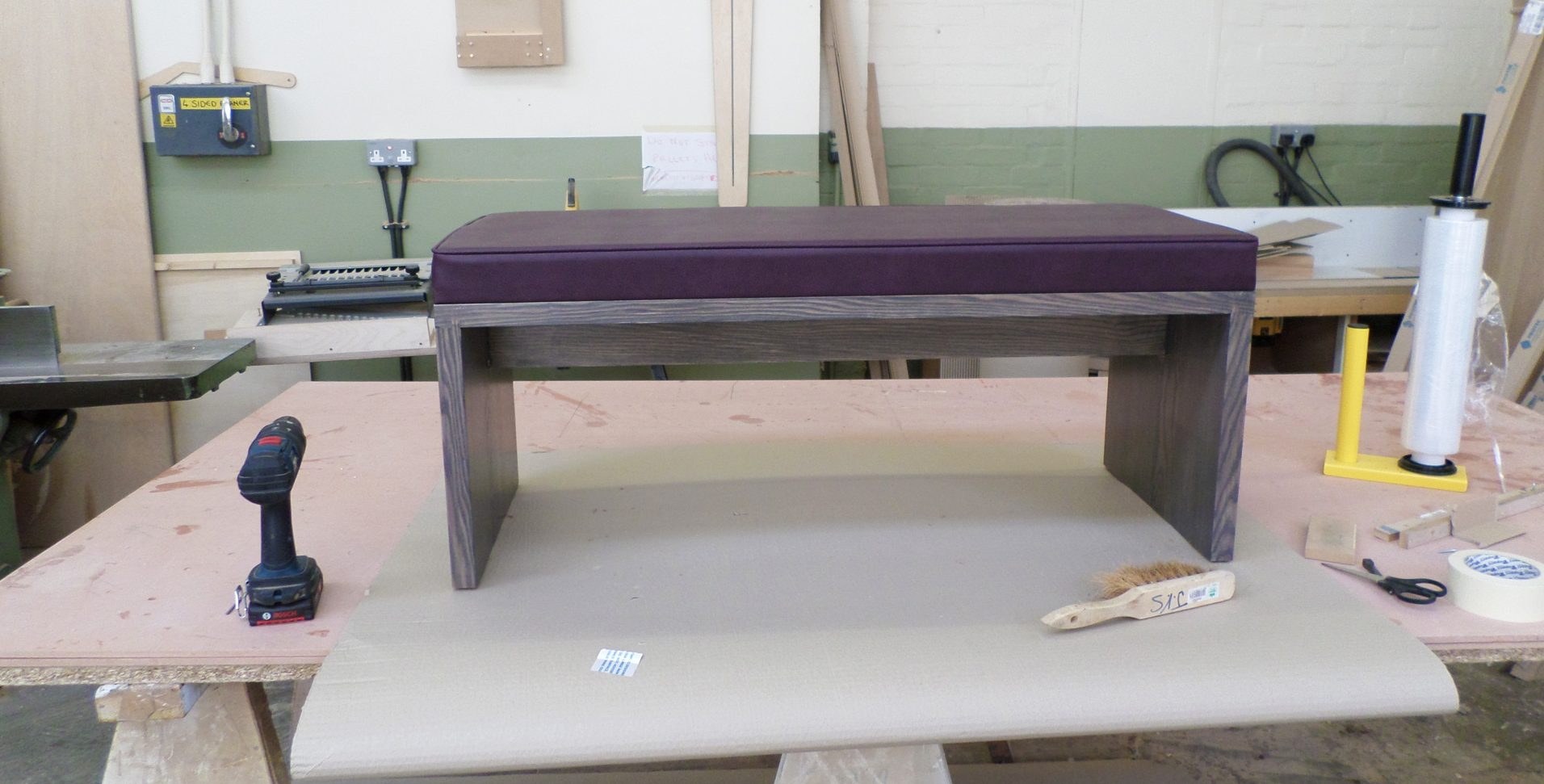Custom-made-bench seating-unit
