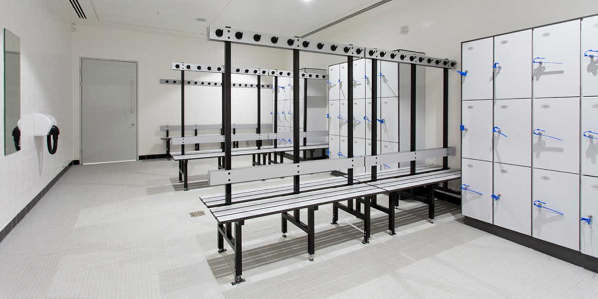 Latymer-Upper-School-bespoke lockers and changing room benches