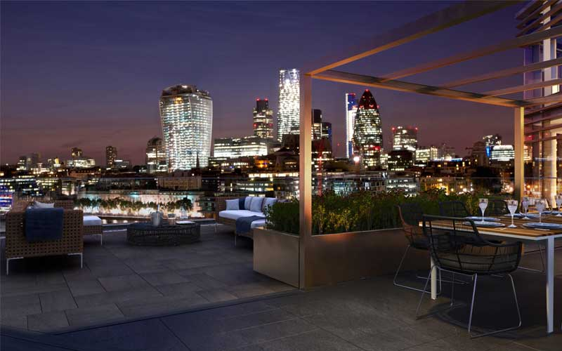 Roof top view of London
