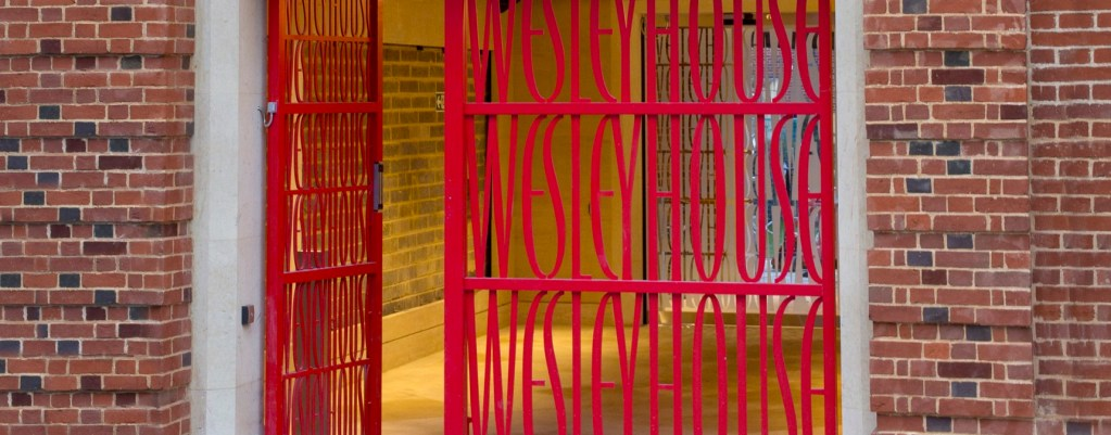Wesley House Collage red gate