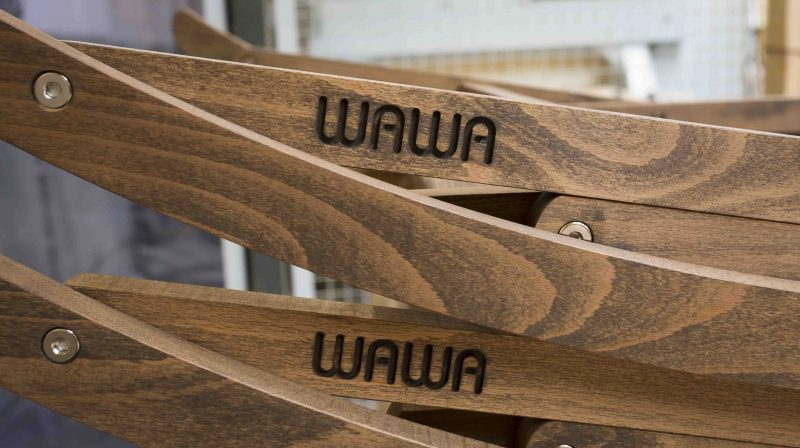 WAWA rocking chairs logo close up