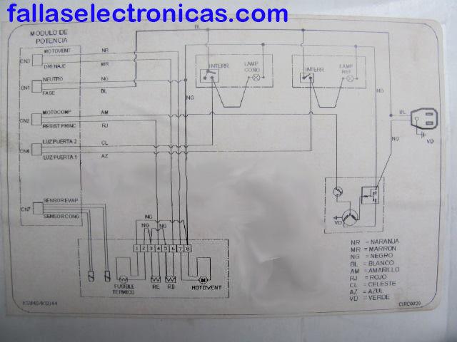 diagrama refrigerador coldex/bosch