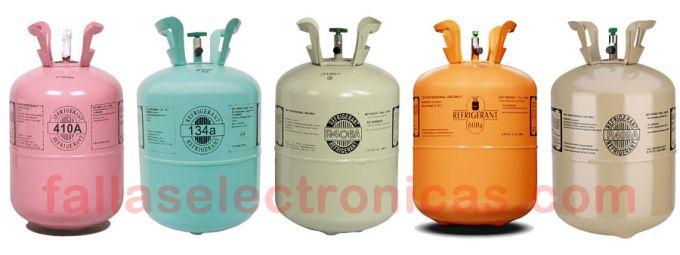Gases para refrigerador