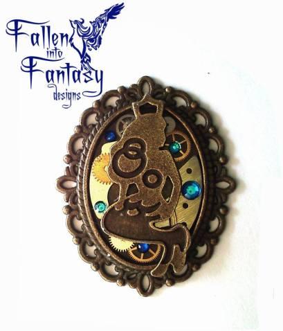 Steampunk fairytales blue mermaid