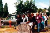 Carrying Pearl's casket to the graveside