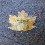 Joseph Brown Leaf of Remembrance
