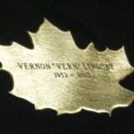 Leaf of Remembrance for Vern Lindsay