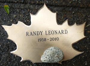Randy Leonard Stone and Leaf from Dedication
