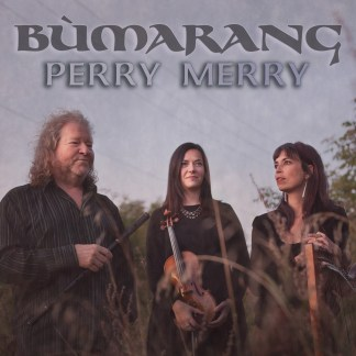 Cover shot for single from Celtic trio Bùmarang called Perry Merry