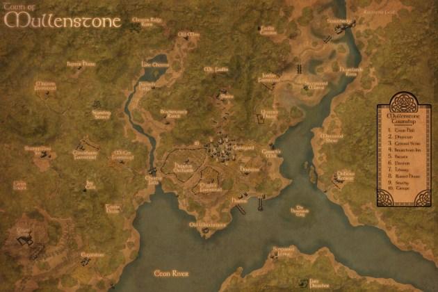 Mullenstone: Area Map