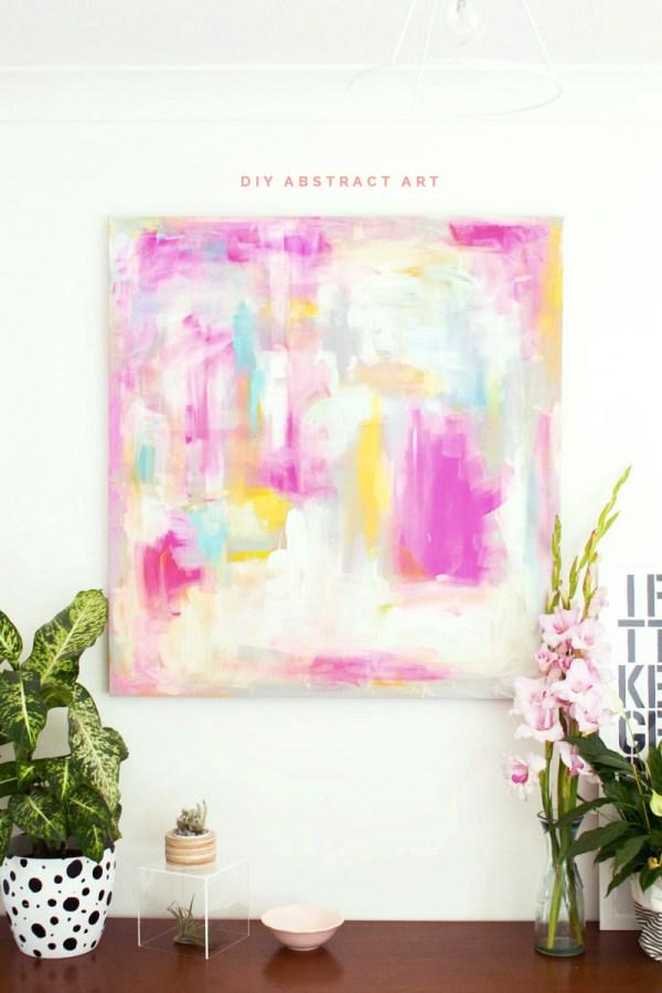Diy Abstract Artwork Furniture Hacks Fall