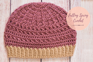 Falling Spring Crochet Greenbrier Beanie Free Crochet Pattern Featured Image