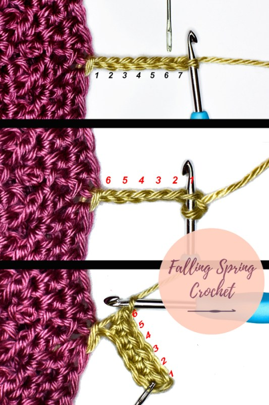 Falling Spring Crochet Greenbrier Beanie Crochet Pattern How to Make a Ribbed Brim with Single Crochet Back Loop Only Stitches