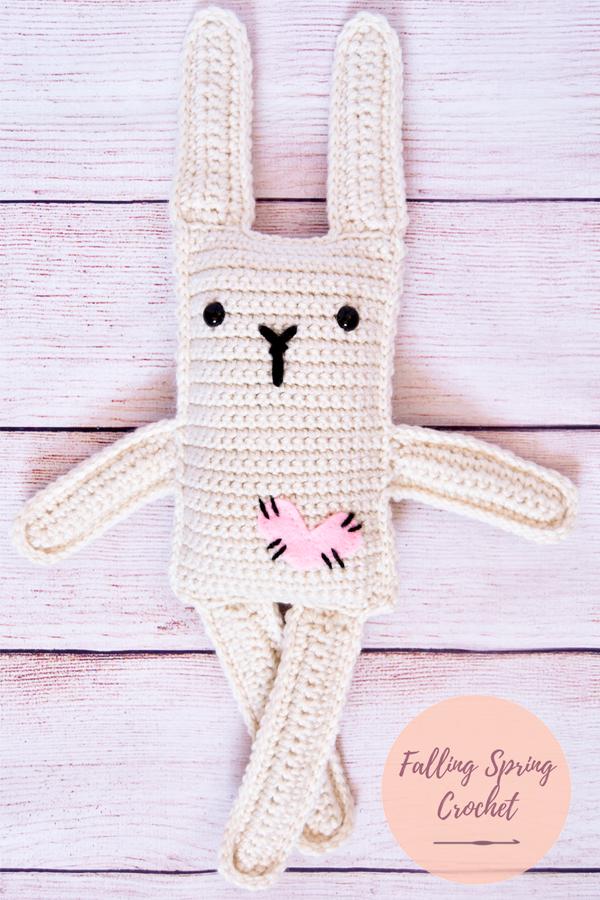 Falling Spring Crochet Ragdoll Inspired Love Bunny Sample Image