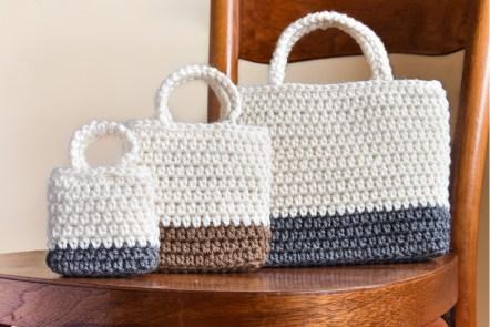 Falling Spring Crochet Easy Gift Bag Crochet Pattern Featured Image
