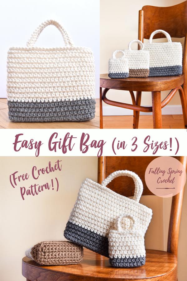 Easy Gift Bag Crochet Pattern Free Falling Spring Crochet