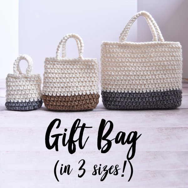 Falling Spring Crochet Easy Gift Bag Gallery Thumbnail