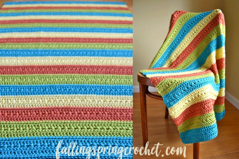Falling Spring Crochet Fruity Popsicle Blanket Free Crochet Pattern Image for Blog