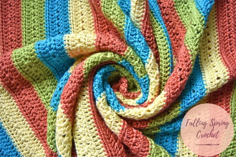 Falling Spring Crochet Fruity Popsicle Blanket Free Crochet Pattern Image for Blog