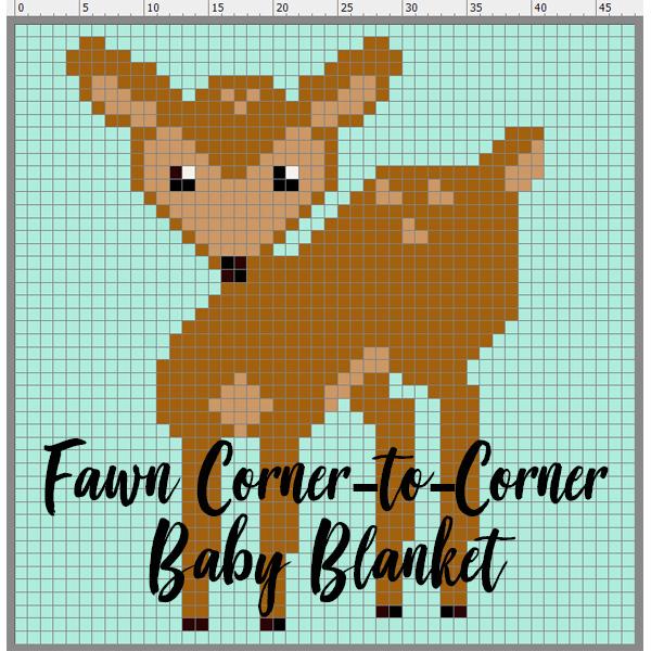 Fawn Corner to Corner Baby Blanket Gallery Thumbnail