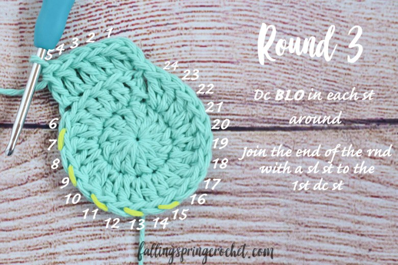 Falling Spring Crochet Water Bottle Sling Crochet Pattern Round 3