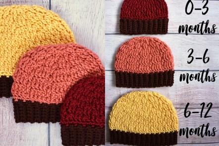 Falling Spring Crochet Fall Baby Beanie Crochet Pattern
