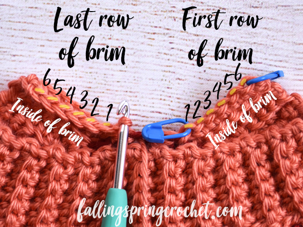 Falling Spring Crochet Fall Baby Beanie How to Seam the Brim