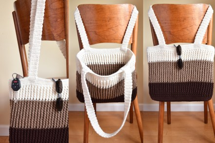 Falling Spring Crochet Easy Tote Bag Crochet Pattern Featured Image