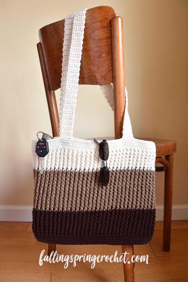 Falling Spring Crochet Easy Tote Bag Crochet Pattern Sample Image 4