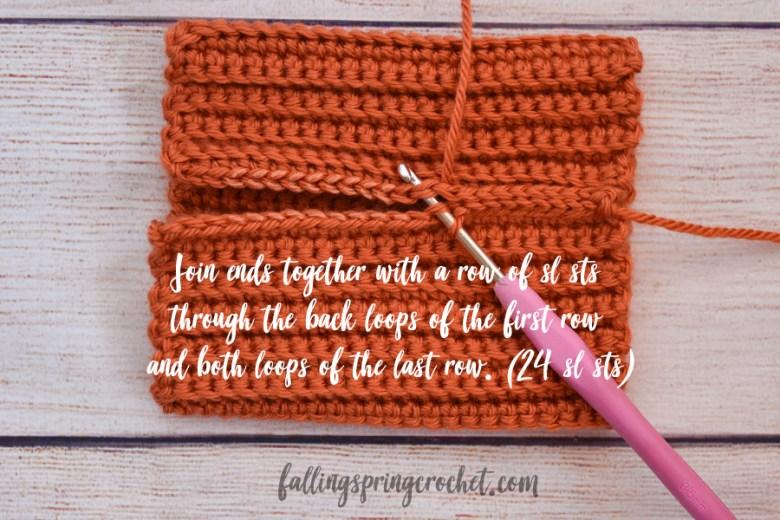 Falling Spring Crochet Easy Crochet Pumpkin Joining the Ends