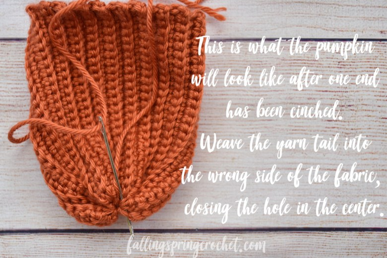 Falling Spring Crochet Easy Crochet Pumpkin Cinching the End