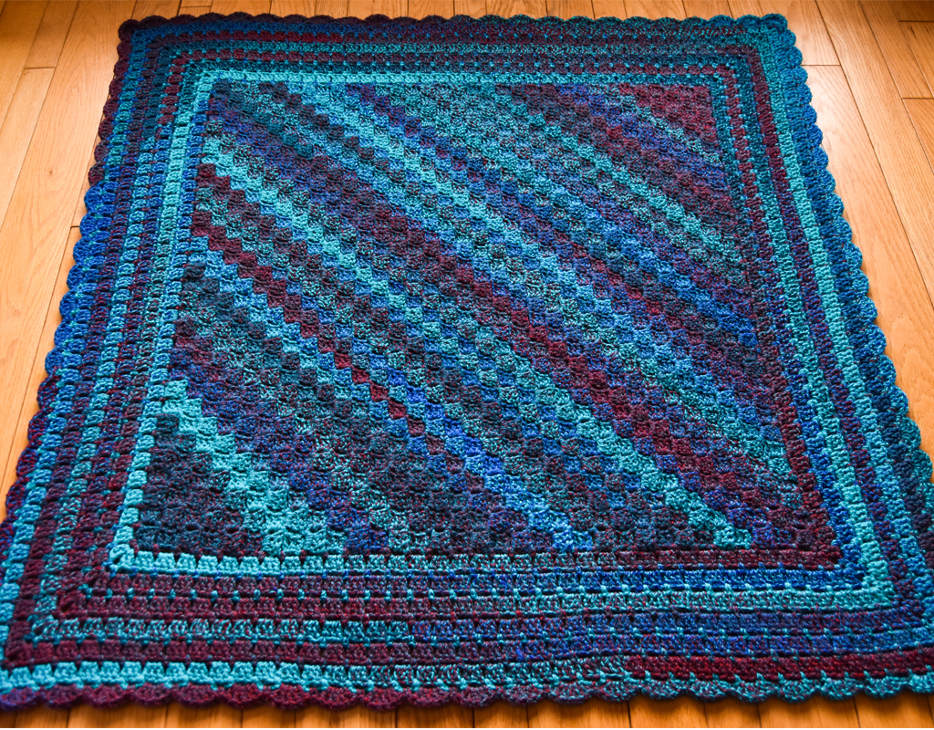 Cozy Corner To Corner Afghan Free Crochet Pattern Falling Spring