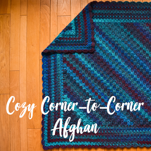 Falling Spring Crochet Cozy Corner to Corner Afghan Crochet Pattern Gallery Thumbnail