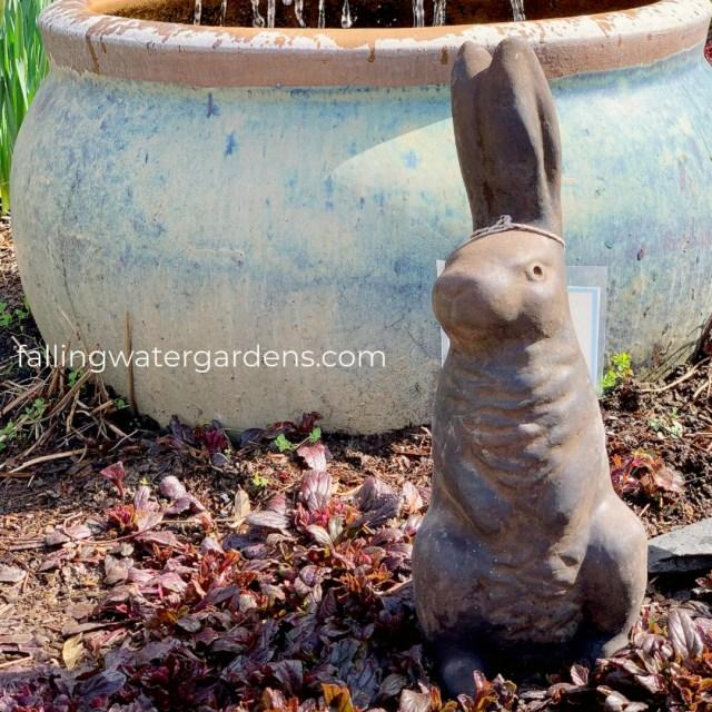 Bunny Statue at Falling Water Gardens in Monroe Washington