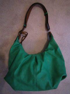 Grote groene schoudertas