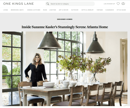 Suzanne Kasler Home Tour   One Kings Lane
