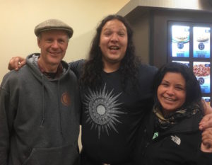 Ed, Manape LaMere and Julie LaChappa. Julie partook in the Farmers Defense Camp and civil disobedience in Iowa.