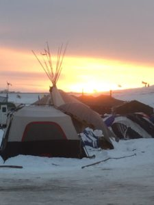 Sunset at Oceti Sakowin