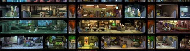 Fallout Shelter pomieszczenia