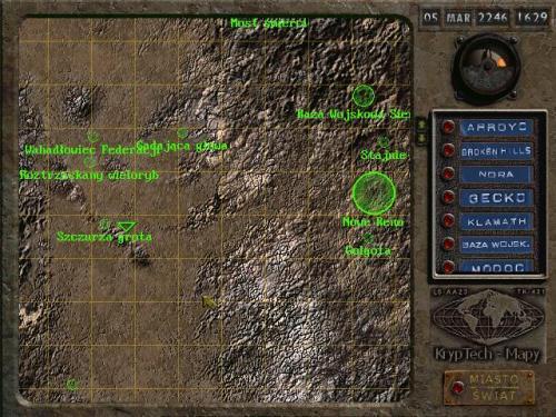 Fallout 2 - mapa świata
