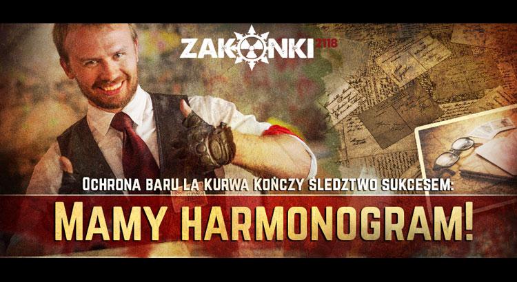 Zakonki 2018 - Harmonogram
