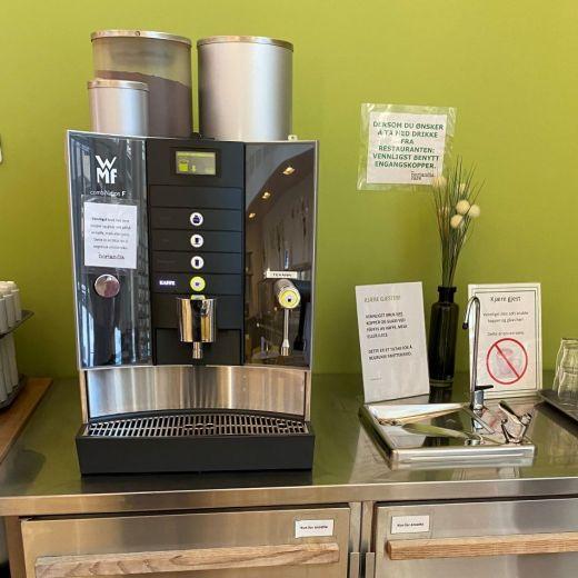 Pasienthotellet St Olav WMF kaffemaskin