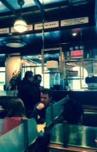 Inside the 'Brooklyn Diner' (actually in Manhattan)
