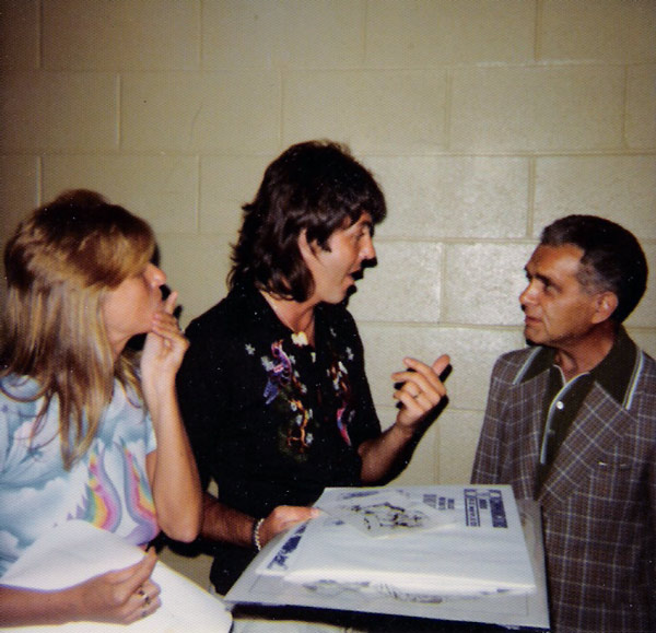 Paul & Linda McCartney w. Jack Kirby (1976)