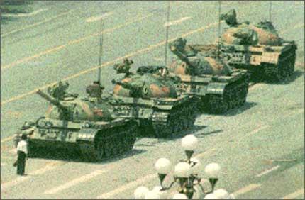 gazing down the Tiananmen tank barrel