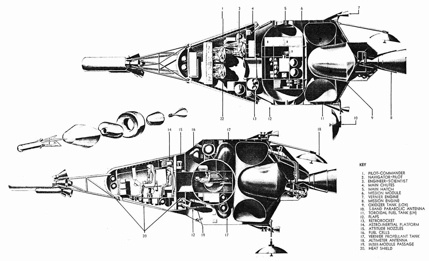 spaceship cutaway diagram modine gas heater wiring space capsule false steps page 2