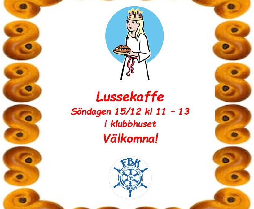 Lussekaffe i klubbhuset 15/12 välkomna